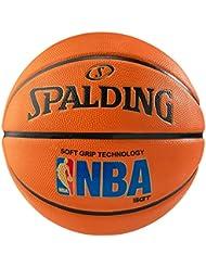 Spalding NBA Logoman Sponge Rubber - Pelota de baloncesto, color naranja, talla 7