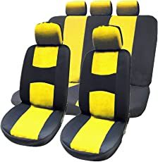 WINOMO 9 Stücke Autositzbezüge Set Universal (Gelb)