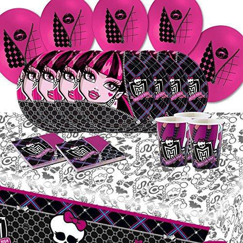 Monster High Party-Set für 8mit Luftballons