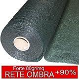STI Rete Ombreggiante Ombra Telo Verde Giardino + 90% H.150cm x 100mt Frangisole Frangivista