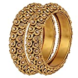 Cardinal Stylish Party Wear Bangles/Bracelet/Kada Traditional Jewellery For Women/Girl(Pack of 2)