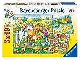 Ravensburger - 09293 - Puzzle Enfant Classique - Animaux de la Ferme - 3 x 49 Pièces