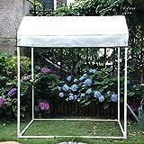 LIZIWS Greenhouse La Familia de la casa del Flor de Invernadero Brota plantando el Estante PE Cubierta el Marco de Acero Inoxidable 130 * 90 * 150cm, 2 Ventanas (Tamaño : A)