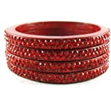 Sukriti Rajasthani Lac Bangles for Women - Set of 4 (Color variants Available)