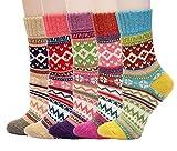 AISHNE Dicke Warme Socken Damen Wolle Winter Socken Frauen Weihnachten Geschenk-5 Paaren