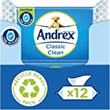 Andrex Washlets afspoelbare toiletdoekjes, Classic Clean, 12 stuks Klassiek schoon
