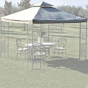 justmoment toile de toit de rechange pour tonnelle 3 x 3 m avec chemin e blanc jardin. Black Bedroom Furniture Sets. Home Design Ideas