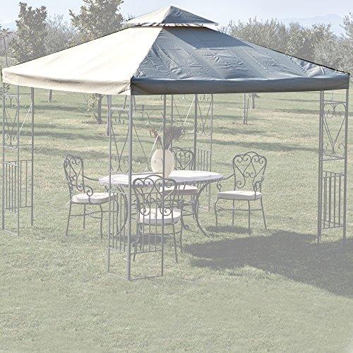 Telo di ricambio per gazebo con airvent 3x3 mt top di copertura colore bianco
