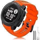 TOPsic Compatibel met Garmin Instinct armband, Instinct horlogebandje, siliconen reservearmband, licht fit armbanden voor Gar