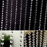 DODOING Schönheit String Tassel Vorhang Raumteiler Kristall Perlen Vorhänge Tür Fenster Panel, 100cm(Länge)