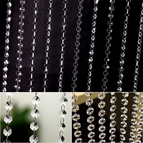 DODOING Schönheit String Tassel Vorhang Raumteiler Kristall Perlen Vorhänge Tür Fenster Panel, 100cm(Länge) (Perlen-fenster)