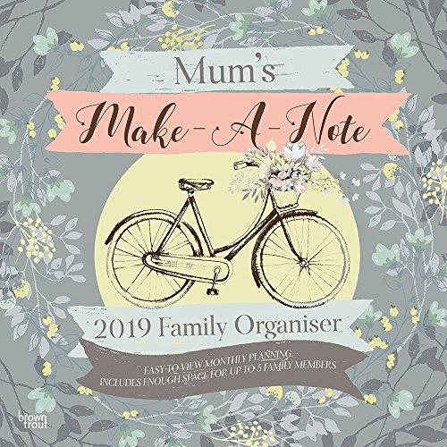 MUMS MAKEANOTE FAMILY ORGANISER 2019 SQU por BROWNTROUT UK