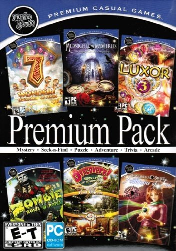 Mumbo Jumbo Premium Pack: 7 Wonders: Treasures Of The Seven + Midnight Mysteries: Edgar Allen Poe Conspiracy + Luxor 3 + Zombie Bowl-O-Rama + Discovery! + Samantha Swift: Fountains Of (Zombie Bowl)