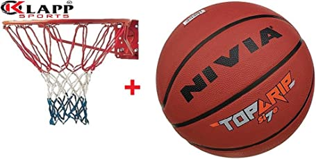 Nivia Top Basketball With Klapp Basketball Ring