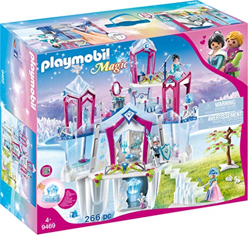 Playmobil 9469 Spielzeug - Funkelnder Kristall palast Unisex-Kinder (Eis Prinzessin Kleid)