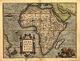 Carte ancienne de l'Afrique par Abraham Ortelius Taille A1 78 x 57 cm...