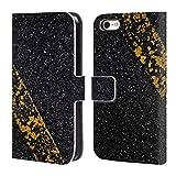 Head Case Designs Offizielle PLdesign Altes Gelbes Gemaelde Abstrakte Photographie Brieftasche Handyhülle aus Leder für iPhone 5c