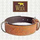 Woza Premium HUNDEHALSBAND 3,3/55CM Kale Vollleder Rindleder Nappa Handmade Collar