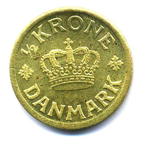 Preisvergleich Produktbild Münze Danmark 1/2 Krone Dänemark 1939 - König Christian X. REPLICA