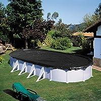 Gre CIPROV731 Bâche Hiver pour Piscine Ovale, Noir, 730 x 375
