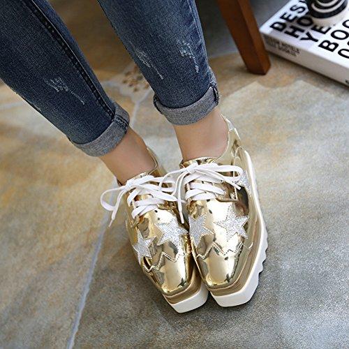 XTIAN , chaussures compensées femme Or