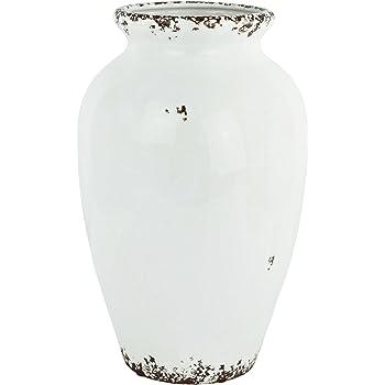 Vase Used Look In Weiss Design Rost Optik Modern Deko Dekoration Krug