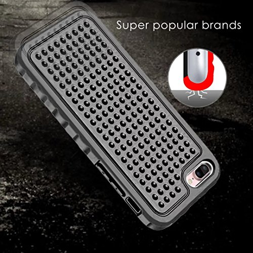 IPhone 7 Plus Case, Super Shockproof 3 In 1 Vollkörper Schutz PC Hard zurück Fall für IPhone 7 Plus ( Color : Pink ) Black