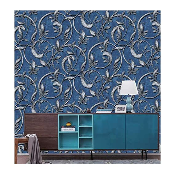 Eurotex Textured PVC Coated 3D Designer Wallpaper Rolls for Living Room/Bedroom/Kitchen/Home Decor (Size -53 cmX1000 cm)