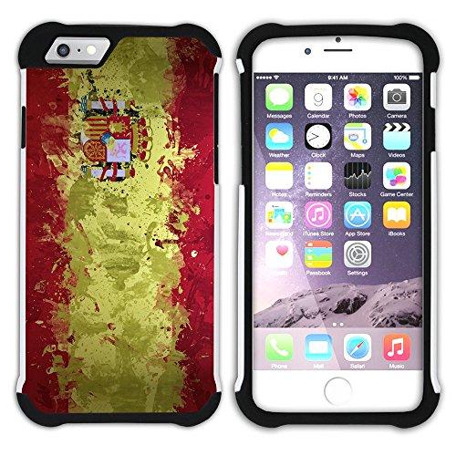Graphic4You Spanien Spanisch Flagge Hart + Weiche Kratzfeste Hülle Case Schale Tasche Schutzhülle für Apple iPhone 6 / 6S Design #1