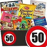 Geschenk zum 50. Geburtstag | Geschenk Schokolade Männer | mit Zetti Schlager Süßtafel, Viba Schicht Nougat Stange und mehr | Schokoladen Box