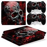 Sony PS4 Playstation 4 Pro Skin Design Foils Aufkleber Schutzfolie Set - Vampire Skull Motiv
