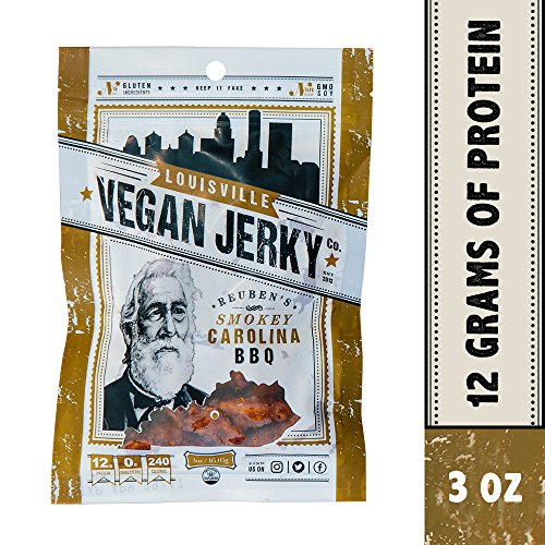 Louisville Vegan Jerky Co. - Vegan Jerky Reuben's Smokey Carolina BBQ - 3 oz.