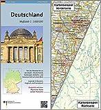 Deutschland 1: 1 000 000: Übersichtskarte und Physische Karte (Topographische Karten 1:1 000 000) - BKG-Bundesamt für Kartographie und Geodäsie