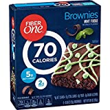 Fiber One General Mills, 90 Calorie, Mint Fudge Brownies, 6 Count, (Pack of 3)