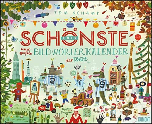 Der schönste und größte Bildwörterkalender der Welt 2019 – DUMONT Kinder-Kalender – Querformat 52 x 42,5 cm – Spiralbindung