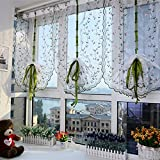 Nest 9 Flowers Curtains Roman Blinds Window Curtain,0.8 By 1.2 Meters High, Small Floral