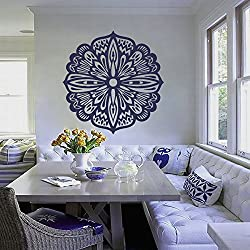 Mandala Pared Pegatinas Adhesivos indio patrón Yoga OUM Símbolo del Om vinilo adhesivo decoración del hogar arte murales ah188