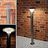 LED Wegeleuchte Aussenleuchte 5 Watt Standleuchte Standlampe Gartenleuchte Edelstahl 451 ohne Bewegungsmelder 80 cm