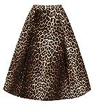 Hell Bunny Panthera Leopardenmuster Kreis 50s Jahre Rock - Braun, UK 12 (M)