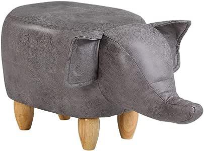 Brown Hippopotamus Marrone Pouf poggiapiedi poggiapiedi a Forma di Animale poggiapiedi Imbottito TUKAILAI