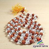 Clear Quartz + Rudraksh Mala Natural Gemstone Stone Beads Size - 8 mm Chakra Healing Enegy Stone Free Set Of Lapis... preisvergleich bei billige-tabletten.eu