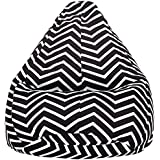 Amazon Brand - Solimo Chevron Stripes XXL Printed Bean Bag Cover Without Beans