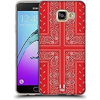 Head Case Designs Croix Rouge Bandana Cachemire Classique Étui Coque en Gel molle pour Samsung Galaxy A3 (2016)
