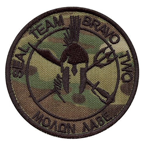 2AFTER1 Multicam Seal Team Two ST2 Bravo Molon Labe US Navy DEVGRU NSWDG Morale Sew Iron on Patch