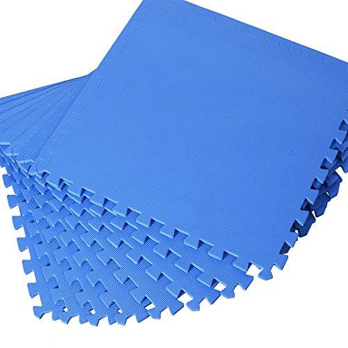HOMCOM 8 tlg/16 tlg/24 TLG Matte Puzzlematte Spielmatte Bodenschutzmatte Bodenmatte Turnmatte Eva (blau)