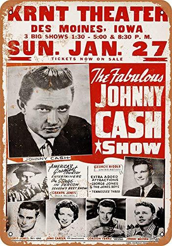 Wise Degree Johnny Cash Show Home Metall Poster Wand Küche Kunst Cafe Garage Shop Bar Dekoration