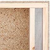 Terrarium: Holzterrarium für Reptilien Seitenbelüftung 100x60x60cm, hochwertiges Terrarium aus OSB Holz, leichte Montage - 3