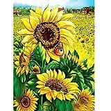 DIY 5D Diamant-Malerei Von Nummer Kits Sunflower Full Strass Stickerei Kreuzstich Bilder Arts Craft für Home Wand-Dekor, 30x 40cm