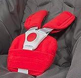 ByBUM® - Protectores para arnés o cinturón de seguridad - Aptos para portabebés, cochecitos, sillas de seguridad (p. ej. Maxi Cosi City SPS, Cabrio, Cybex Aton, etc.; disponibles en muchos colores; FABRICADOS EN LA UNIÓN EUROPEA, Color:Rojo