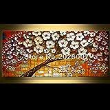 Hohe Qualität handbemalt Landschaft abstrakt Palette Mohn Original Landschaft Wandbild Ölgemälde House Living Room Art, canvas, 32x64inch(80x160cm)